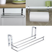 10'' Paper Roll Towel Holder Stainless Steel Racks Under Cabinet Door Drawer.