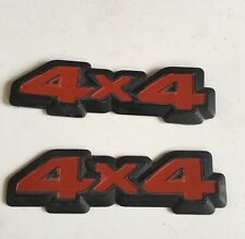 VECTRA 2000 CALIBRA CAVALIER MK3 FRONTERA MONTERAY  4x4 BADGE EMBLEME SET TURBO
