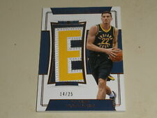 2017-18 Panini National Treasures Rookie Jumbo LETTER PATCH T J Leaf RC 14/25
