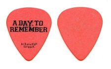 A Day To Remember Orange Guitar Pick - 2014 Tour