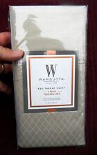 NEW WAMSUTTA  620 Thread Count - Two King Pillowcases 100% Egyptian Cotton