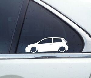 2 tuning stickers auto aufkleber for VW Polo 9N Mk4 3-tur (bug lights) TDI L1626