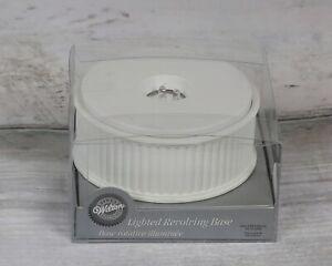 Wilton revolving base Battery Light Up wedding cake topper Crystal Glass Trophy