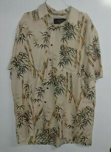Vintage Callan Mens Short Sleeve Bamboo Shirt Fits as XL Made In AUSTRALIA🇦🇺