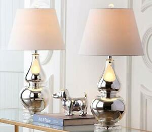 Safavieh Lighting Collection Cybil Silver Double Gourd Bedroom Living Room Ho...