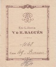 § EX-LIBRIS VICTOR & ROBERT BAGUÈS - PARIS §
