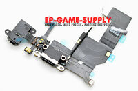 OEM Black Headphone Audio Jack USB Charging Dock Port Flex Cable for iPhone 5