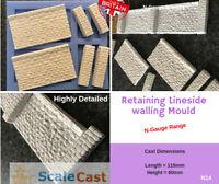 N Gauge walling and Abutments - N14 - N Scale model railway stone scenery