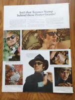 1968 Foster Grants Grant Sun Glasses Ad Isn't that Terence Stamp behind those