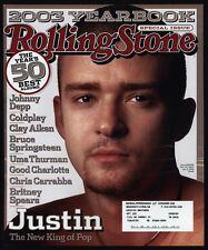 2003 Justin Timberlake Rolling Stone Magazine *Cover Only*