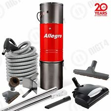 Allegro Central Vacuum 3,000 sq ft 35' Hose Best Wessel-Werk Headlight Electric