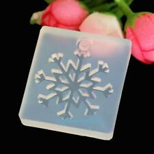 Silicone Snowflake Moulds Mold Resin Jewellery Making Pendant Jewelry Craft DIY