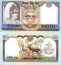 NEPAL 10 Rupees Banknote World Paper Money UNC Currency Pick p31a King Bikram
