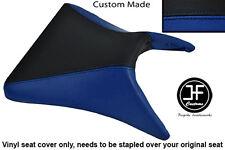 BLACK & R BLUE VINYL CUSTOM FOR KAWASAKI NINJA ZX6R 03-04 FRONT RIDER SEAT COVER
