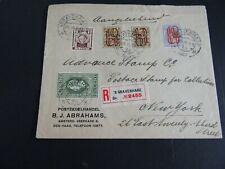 Nederland fraaie mengfrankering op aangetekende brief Den Haag - New York 1927