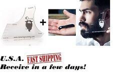 Hairline Liner Shaper Edger Guide Tool Taper Template for Hair Beard Mustache