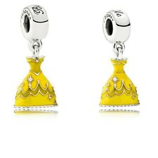 Disney Princess Belle's Dress Dangle Charm Authentic Sterling Silver S925