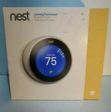 NEST 3rd Generation T3007ES Learning Stainless Steel Programmable Thermostat!*-*