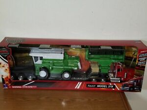 1/32 NEW RAY PETERBILT MODEL 379 LOWBOY with COMBINE HARVESTER NO. SS-11253A