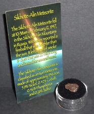 New listing Russian Meteorite with Gem Case! Genuine 1.1 gram Sikhote-Alin Meteorite!