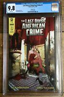Last Days Of American Crime #1 Variant  CGC 9.8 2137029009