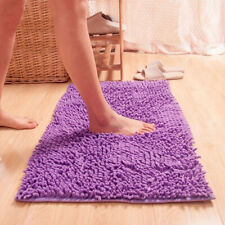 Soft Microfibre Shaggy Anti Slip Absorbent Bath Mat Bathroom Shower Rugs Carpet