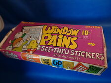 WINDOW PAINS STICKERS - 1965 FLEER HOBBY - ORIGINAL (24) PACKS ! COLLECTIBLE !