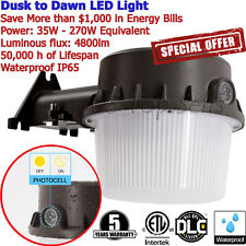Outdoor LED Light Photocell Dusk to Dawn Barn Lights Waterproof Yard Security