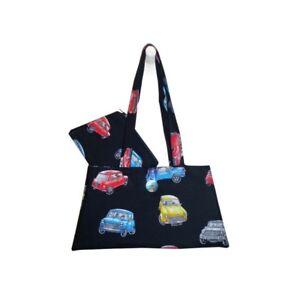 Hergest Cotton Black Handbag and purse combo with Classic Mini design