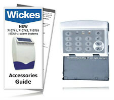 Wickes / Response Alarms Wirefree Security Keypad SAKP E 433MHz / GUIDE INCLUDED