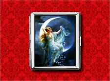 MOON GODDESS FAIRY PIN UP STARS VINTAGE METAL WALLET CARD CIGARETTE ID IPOD CASE