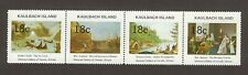 KAULBACH ISLAND CINDERELLA STRIP OF 4  STAMPS 1973 - FAMOUS PAINTINGS