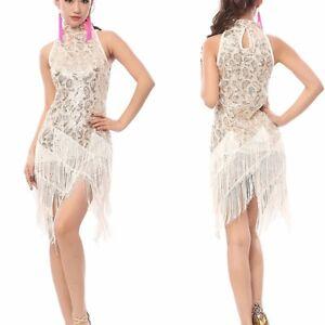 1920's Flapper Party Clubwear Gatsby Sequin & Fringe Tassel Black Gold Dress