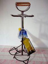 Vieux flaschenträger- Porte-bouteille + porte en verre schmiedeeisen-weinregal