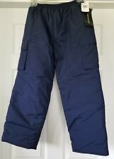 "NWT Unisex Kids ""Weathertamer"" Navy Blue Snow Pants Size Small"