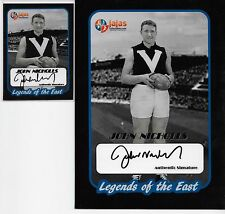 HALL OF FAME LEGEND SIGNATURES/ JOHN NICHOLLS 2 CARD SET / OVERSIZE & REGULAR