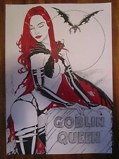 GOBLIN QUEEN ORIGINAL Waekmann Marvel PinUp Lady Black Jean Grey Death X-Men ink
