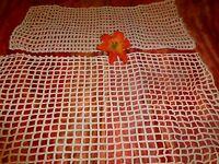lot=== du crochet coton  fait main ,petits rideaux ou autre