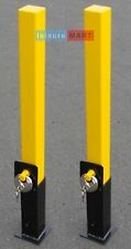 2 x Security posts, removable and heavy duty, Parking Bollard Maypole MP9731