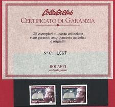2007 ITALIA/ITALY, n° 2995Da Carducci MNH/** VARIETA' Cert. Garanzia Bolaffi