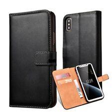 Cover custodia portafoglio in vera pelle per cellulari Apple Iphone 6 7 8 x se