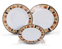 Service De Table En Porcelaine 18 Pièces Pour 6 Personnes DUO Pharaon Cadeau