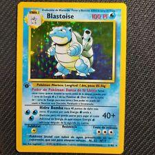 Pokemon 1st Edition Blastoise 2/102 Spanish Base Set Holo psa? Not shadowless