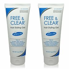 Free & Clear GEL Hair Styling Gel For Sensitive Skin 7 oz ( 2 pack )
