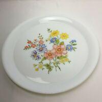 """Vintage Arcopal France Floral White France Large Serving Plate 15.25"""" Rare"""