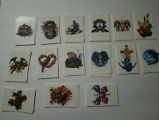 LOT OF  90 ANIMAL SKULL TEMPORARY TATTOO~WATERPROOF ARM BODY STICKER MEN WOMEN