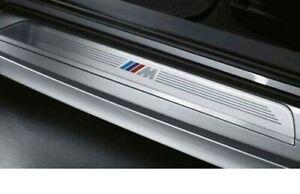 Original BMW 1 series E87 M Logo Door Entry Sills 2pcs Front 51477906817_818 New