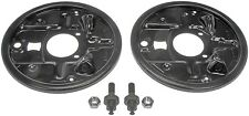 Brake Backing Plate Dust Shield Pair For Chevy S10 GMC Sonoma 18013524 18013525