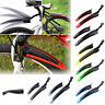 """24""""-26"""" Mountain Bike Mudguards MTB Bicycle Mud Guard Tire Fender Front Rear Set"""