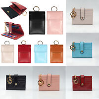 Women Lady Leather Wallet Card Holder Handbag Box Bag Clutch Foldable RFID Purse